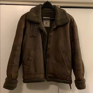 Leather bomber jacket size Small by Wilda